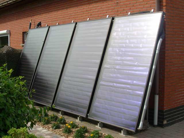 centrale verwarming met zonnepanelen